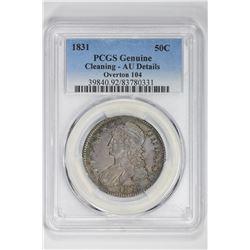1831 50C Genuine Overton 104. AU Details PCGS