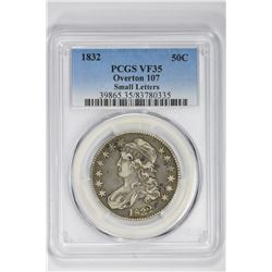 1832 50C Overton 107 Small Letters. VF 35 PCGS