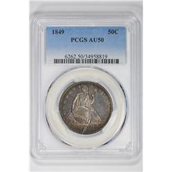 1849 50C. AU 50 PCGS