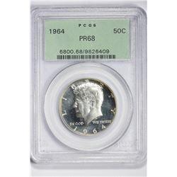 1964 50C. PR 68 PCGS