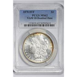 1878 $1. MS 62 PCGS
