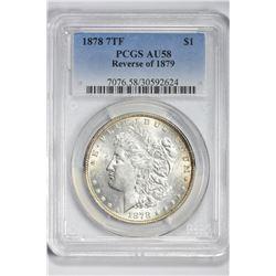 1878 $1. Au 58 PCGS