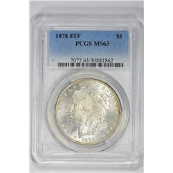 1878 8 TF $1. MS 63 PCGS