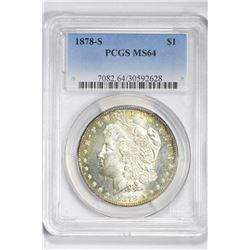 1878 S $1. MS 64 PCGS