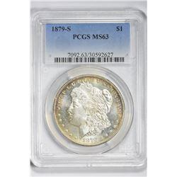1879 S $1. MS  63 PCGS