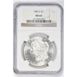 1880 S $1. MS 64 NGC
