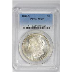 1880-S $1. MS 65 PCGS