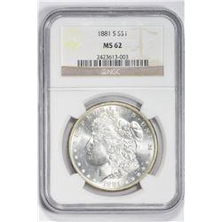 1881 S $1. MS 62 NGC