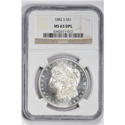 1882 S $1. MS 63 NGC