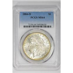 1884-O $1. MS 64 PCGS