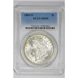1885-O $1. MS 65 PCGS
