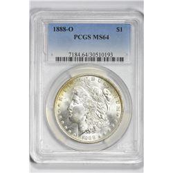 1888 O $1. MS 64 PCGS