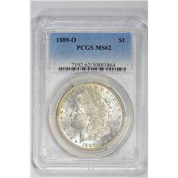 1889-O $1. MS 62 PCGS