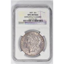 1897 S$1 . UNC Details NGC