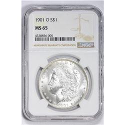 1901 O $1. MS 65 NGC