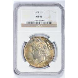 1924 $1. MS 65 NGC