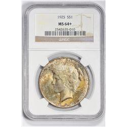1925 $1. MS 64+ NGC