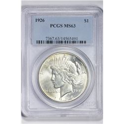 1926 $1. MS 63 PCGS