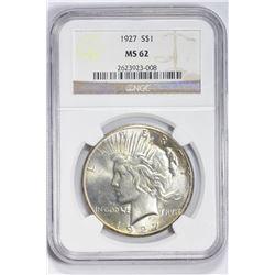 1927 $1. MS 62 NGC