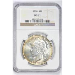 1928 $1. MS 62 NGC