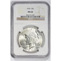 1935 $1. MS 64 NGC