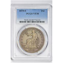 1875-S $1 Trade Dollar. VF 30 PCGS