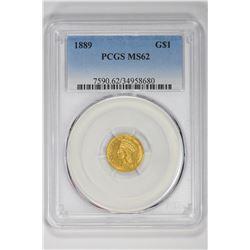 1889 G$1. MS 62 PCGS