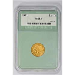 1911 $2 1/2. MS 63 NTC