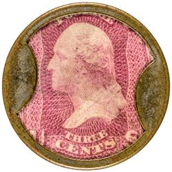 Stunning Dougan Three Cent Dougan. 3 Cents. HB-97, EP-41, S-67. Choice Extremely Fine.