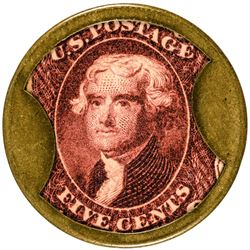 Drake's Plantation Bitters. 5 Cents, Plain Frame. HB-102, EP-74, S-72. About Uncirculated.