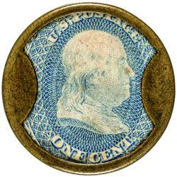 G.G. Evans. 1 Cent. HB-116, EP-14, S-84. About Uncirculated.
