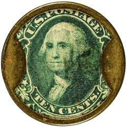 J. Gault. 10 Cents, Plain Frame. HB-133, EP-116, S-97. Extremely Fine.