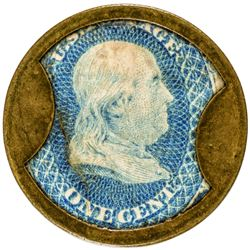 John W. Norris. 1 Cent. HB-184. EP-23, S-136. Choice Extremely Fine.