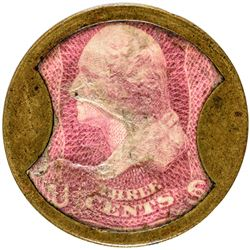 John W. Norris. 3 Cents. HB-185. EP-52a, S-137. Extremely Fine.