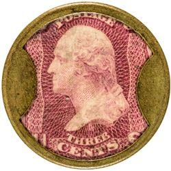 Pierce Tolle & Holton. 3 Cents. HB-202, EP-54, S-146. Extremely Fine.