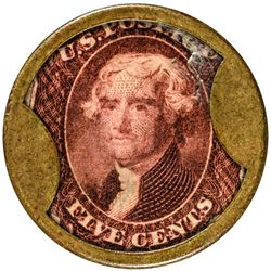Prized White the Hatter Cents White the Hatter. 5 Cents. HB-236, EP-95, S-180. About Uncirculated.