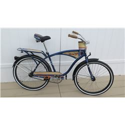 "Huffy 26"" Panama Jack Men's Blue Beach Cruiser Bike Coaster Brake & Carrier"