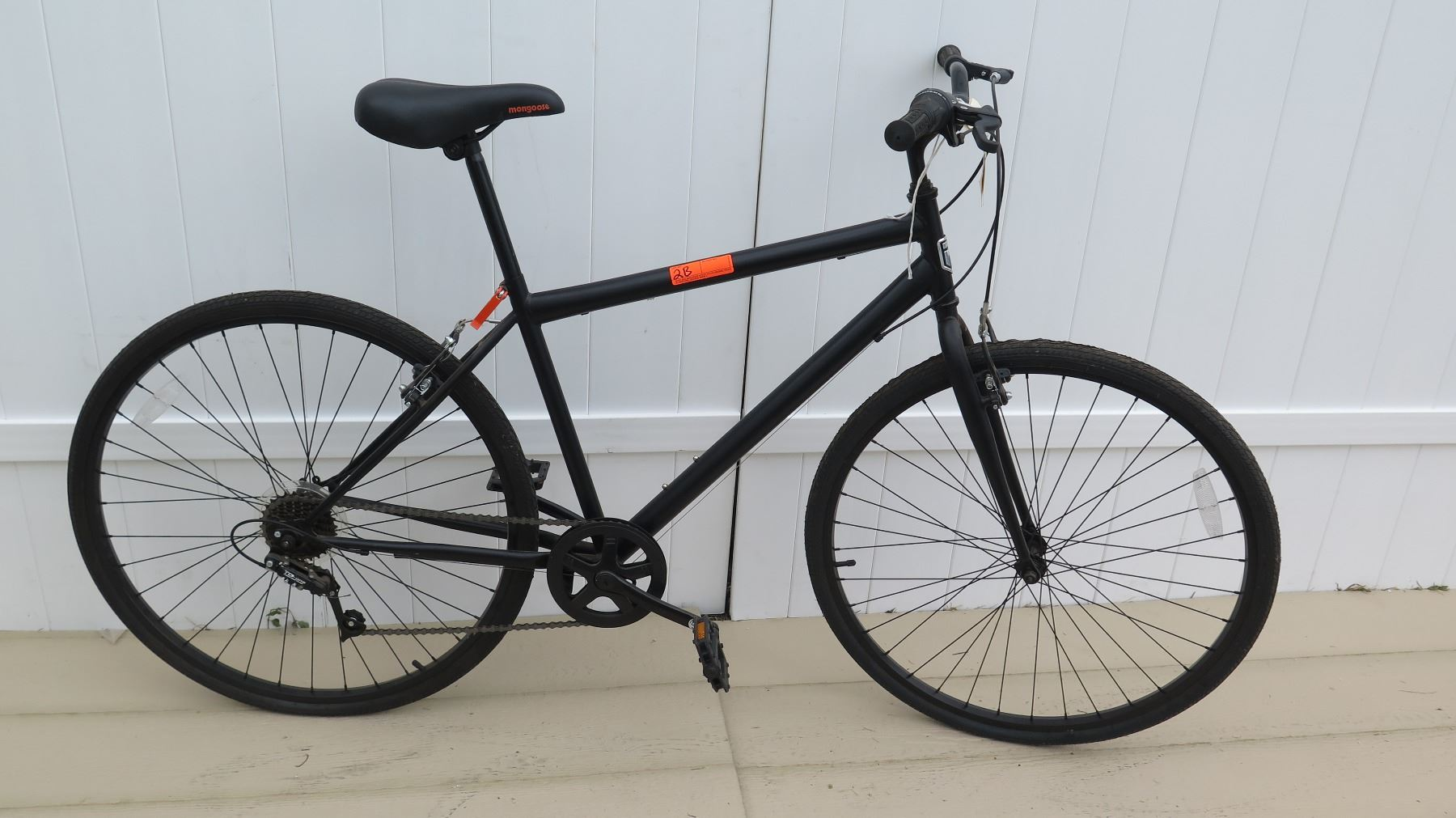 Mongoose Men's 7 Speed Torque Drive System Black Racing Bike