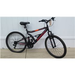 Hyper Men's 18 Speed HPR Suspension Shimano Equipped Black Mountain Bike