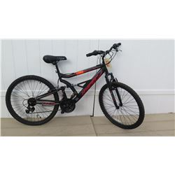 "Hyper Shocker 26"" X-Trac Men's HPR Suspension 18 Speed Black Mountain Bike"