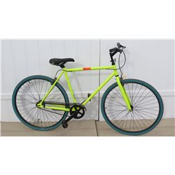 Men's Neon Green Single Speed Bicycle Racing Bike