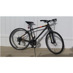 Cross Trail Men's 18 Speed Black Shimano Altus Equipped Road Bike