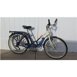 Schwinn Point Beach Women's Blue White Cruiser Bike w/ Carrier