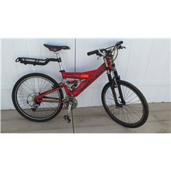 "Gary Fisher Genesis LX 26"" Level Betty Men's Red Mountain Bike w/ Carrier"