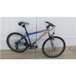 Schwinn Solution Men's FS Aluminum Blue Silver Grip Shift Max Mountain Bike