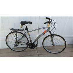 Schwinn Network 1 Men's Gray Hybrid Road Bike w/ Carrier