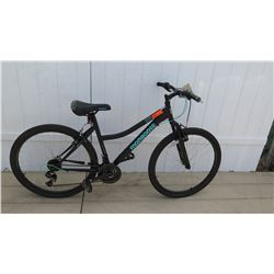 Mongoose Excursion Girl's 21 Speed Black Element Mountain Bike