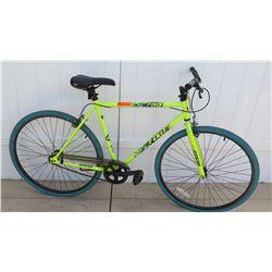 Kent 700C Series Fixie Neon Yellow Men's Single Speed Road Bike
