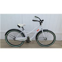 "Huffy 26"" Cranbrook Women's White Single Speed Cruiser Bike w/ Coaster Brake"