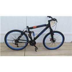 "Genesis 26"" V2100 Men's Black Blue Shimano Equipped Mountain Bike NO SEAT"